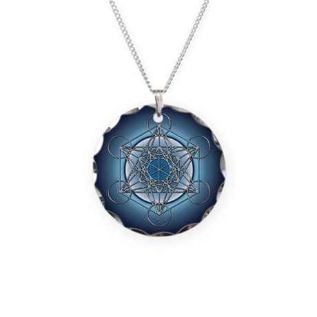 Metatrons Cube Necklace Circle Charm