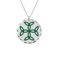 Triquetra Cross Necklace Circle Charm