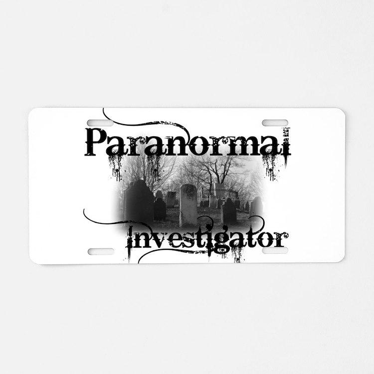 Cute Paranormal investigator Aluminum License Plate