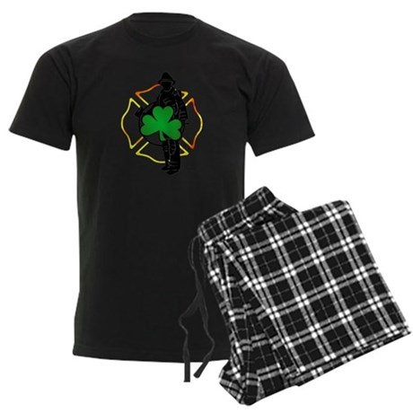 Irish Fire Symbols Men's Dark Pajamas