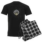 Firefighter Tattoo Men's Dark Pajamas
