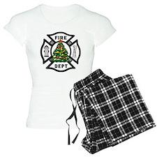 Firefighter Christmas Tree Pajamas