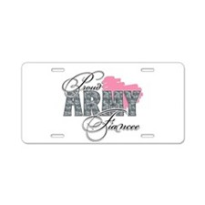 Army infantry girlfriend Aluminum License Plate