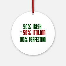 50% Irish + 50% Italian = 100 Ornament (Round)
