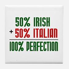 50% Irish + 50% Italian = 100 Tile Coaster