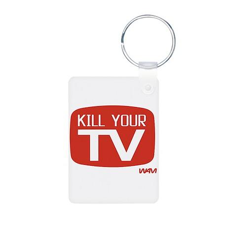 KILL YOUR TV Aluminum Photo Keychain