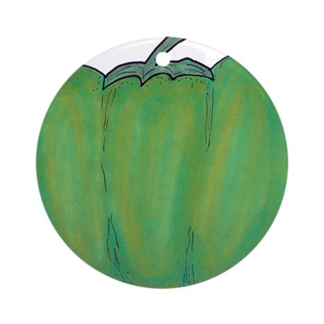 Bell Pepper Ornament (Round)