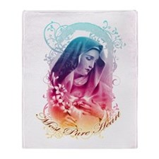 """Most Pure Heart"" Throw Blanket"