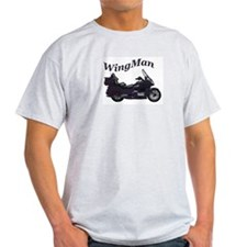 GoldWing Shop #WingMan Ash Grey T-Shirt