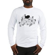 Black Sheep Cartoon Long Sleeve T-Shirt