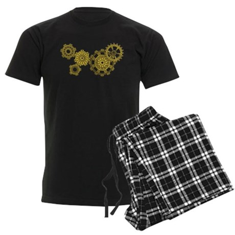 Woven Clockwork Men's Dark Pajamas