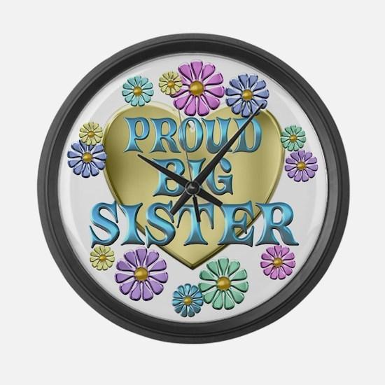 Proud Big Sister Large Wall Clock