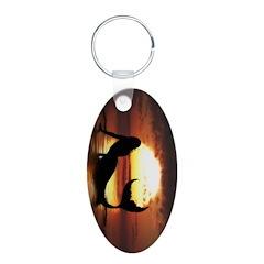 Existence Mermaid Oval Keychain