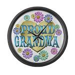 Proud Grandma Large Wall Clock