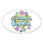 Proud Grandma Sticker (Oval 10 pk)