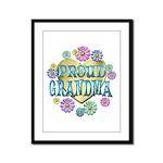 Proud Grandma Framed Panel Print