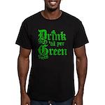 Drink 'til yer Green Men's Fitted T-Shirt (dark)
