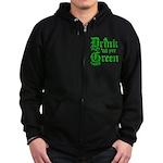 Drink 'til yer Green Zip Hoodie (dark)