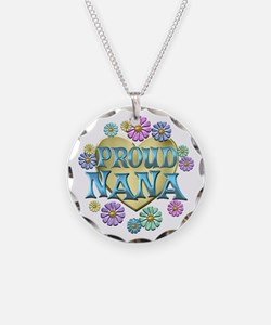 Proud Nana Necklace Circle Charm