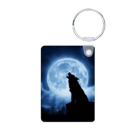 Cries of the Night Wolf Photo Keychain