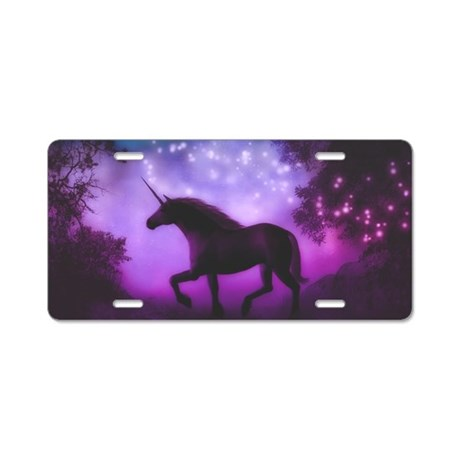 Enchanted Unicorn License Plate Tag