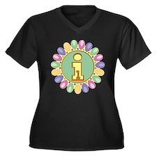 1st Birthday Women's Plus Size V-Neck Dark T-Shirt