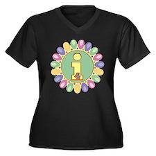 4th Birthday Women's Plus Size V-Neck Dark T-Shirt