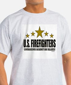 U.S. Firefighters Courageous Against T-Shirt