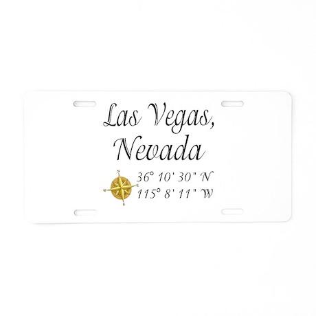 Las Vegas, Nevada Aluminum License Plate