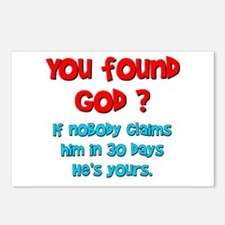 You Found God... Postcards (Package of 8)