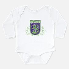 St. Urho Coat of Arms Long Sleeve Infant Bodysuit