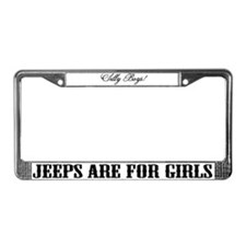 Funny Boy girl License Plate Frame