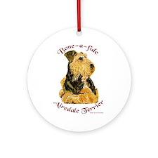 Bone-a-fide Airedale Ornament (Round)