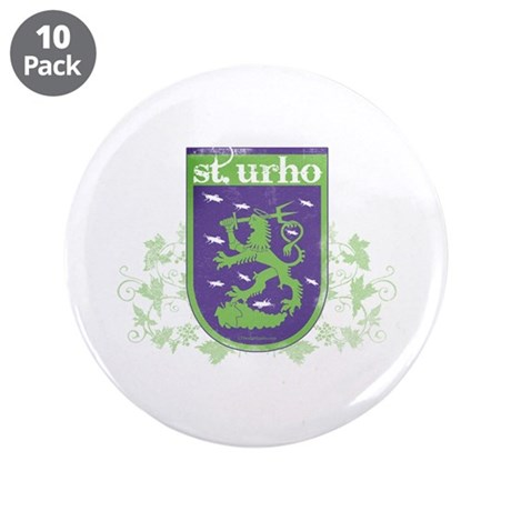 """St. Urho Coat of Arms 3.5"""" Button (10 pack)"""