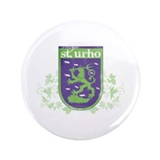 """St. Urho Coat of Arms 3.5"""" Button"""