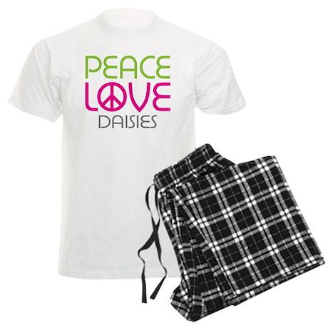Peace Love Daisies Men's Light Pajamas