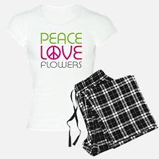 Peace Love Flowers Pajamas