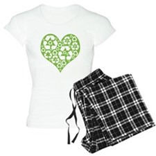 Green Heart Recycle Pajamas