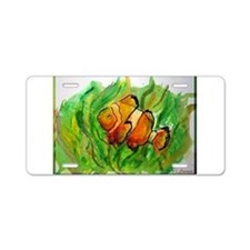 Fish, bright, tropical, Aluminum License Plate