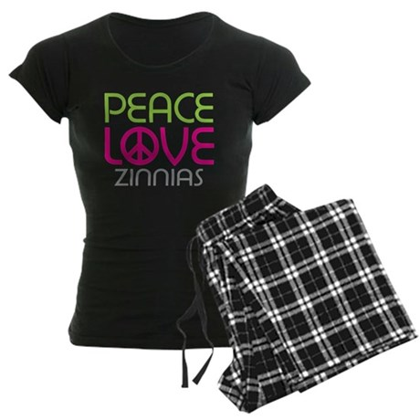 Peace Love Zinnias Women's Dark Pajamas