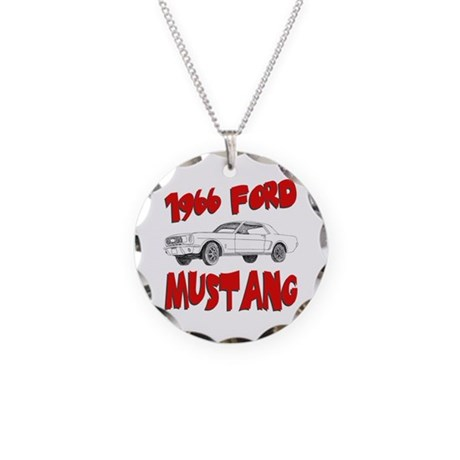 1966 Ford Mustang Necklace Circle Charm