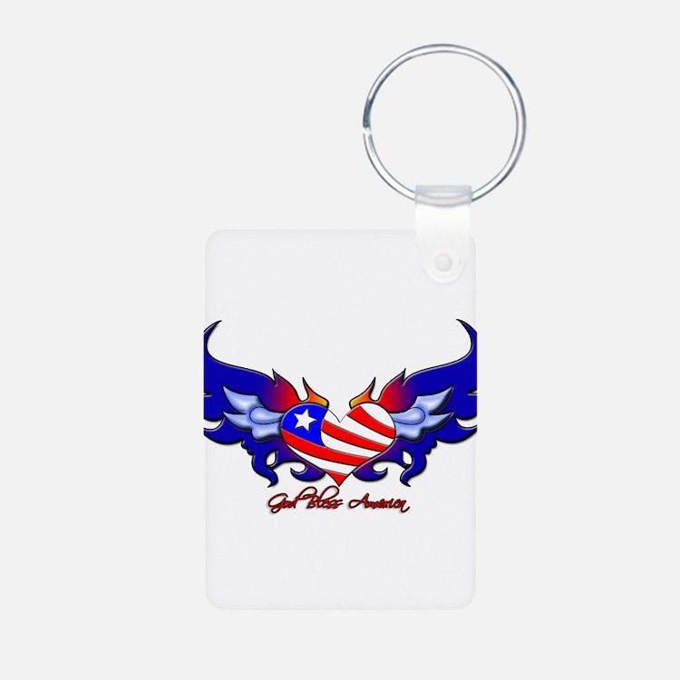 God Bless America Keychains