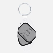 MY Son is an Airman dog tag Keychains