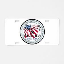 Collective Bargaining Aluminum License Plate