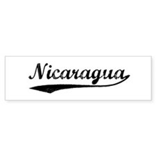 Vintage Nicaragua Bumper Bumper Sticker