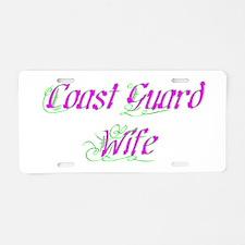 Coast Guard Wife Aluminum License Plate