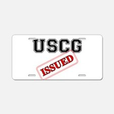 USCG Issued Aluminum License Plate
