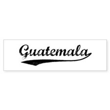 Vintage Guatemala Bumper Car Sticker