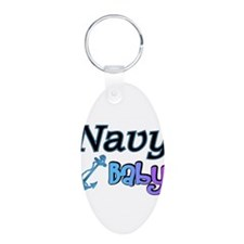 Navy Baby blue anchor Keychains