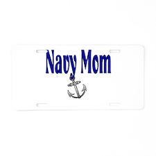 Navy Mom Sleep with a Biker Aluminum License Plate